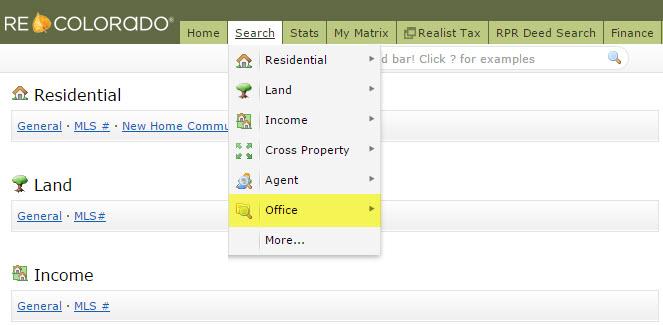REcolorado Matrix MLS Search Office